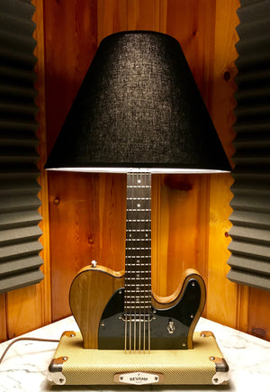 Guitar Lamp - Tele Style Wood Grain #037 of Collection