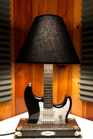 Guitar Lamp -  Strat Style Black #006 of Collection