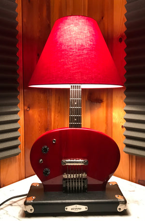 Guitar Lamp - SG Style Red Bottoms Up  #019 of Collection.