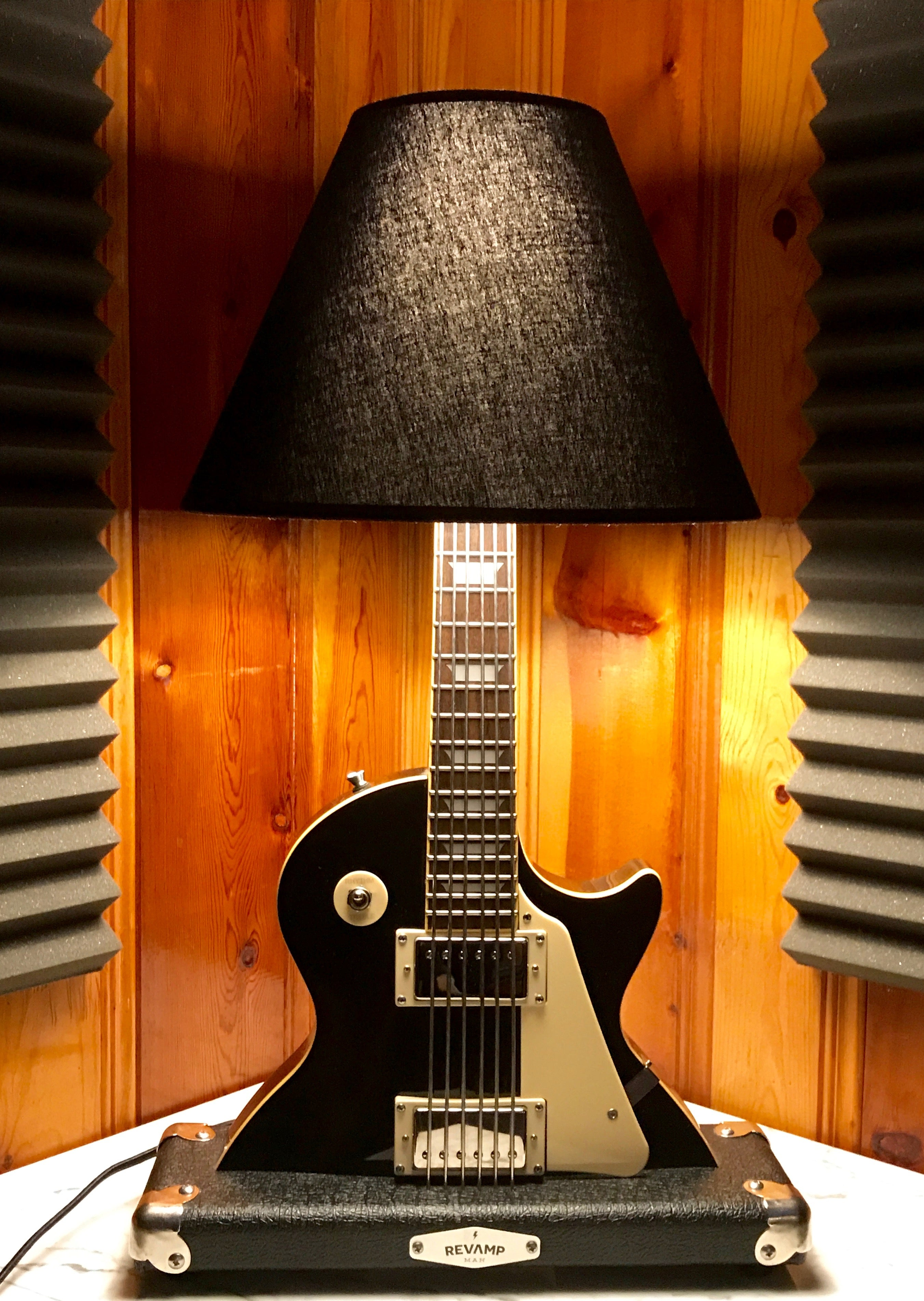 Guitar Lamp -  LP Style Black #010 of Collection