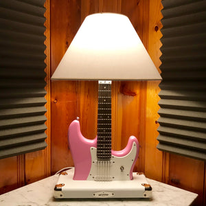 Guitar Lamp - Bubble Gum Strat style #048 of Collection