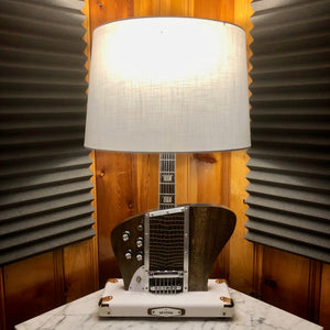 Guitar Lamp-Firebird Style Bottoms Up Dark Wood # 064 of Collection