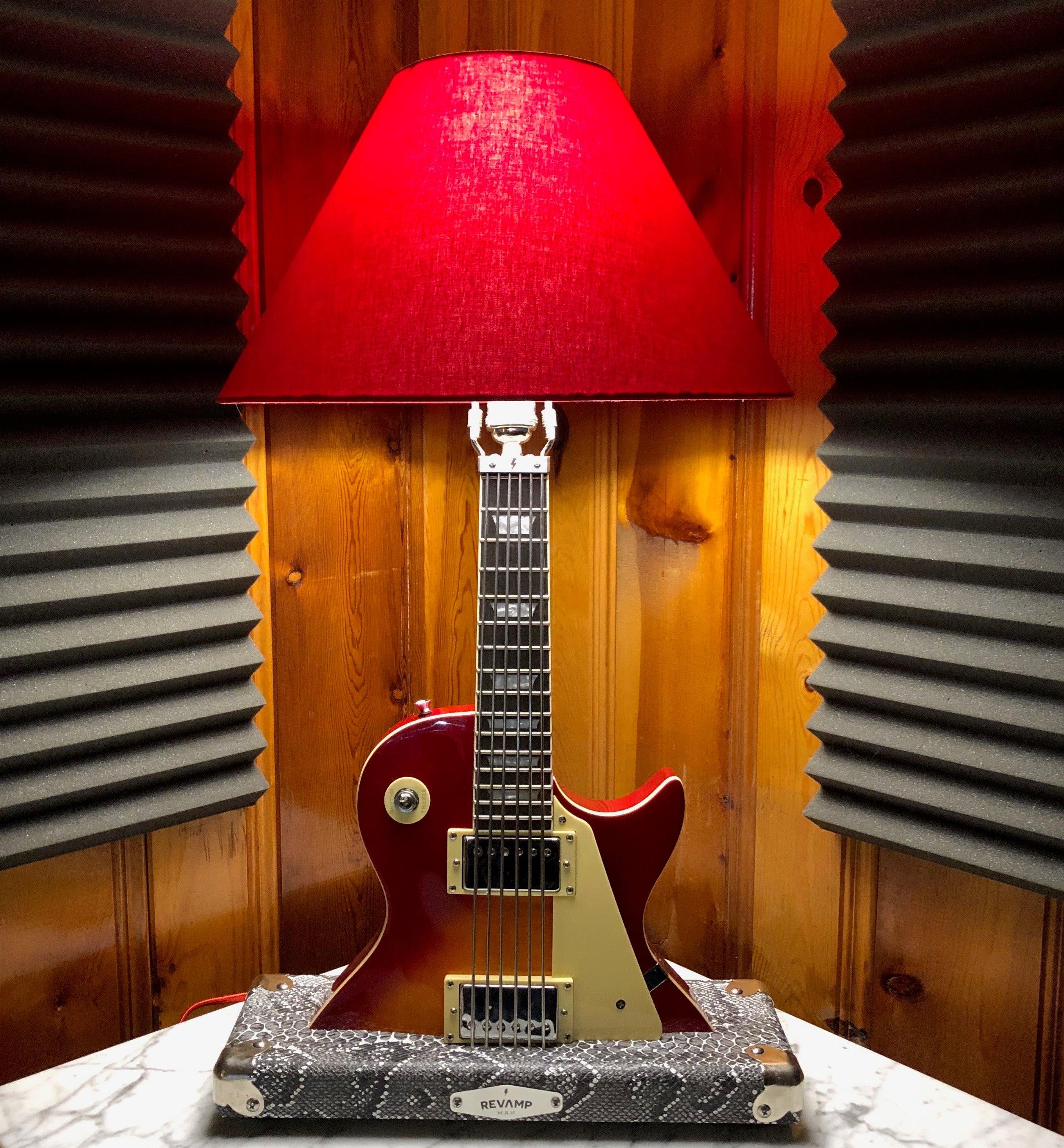 Guitar Lamp-Laid Back LP Style Sun Burst #065 of Collection