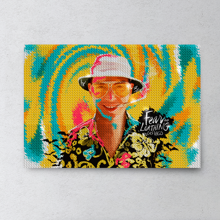 Fear and Loathing Rhinestone Painting By Number Kit