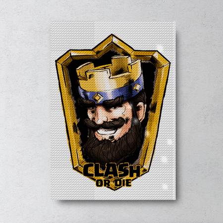 Clash Royale Rhinestone Painting by Number Kit