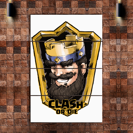 Clash Royale 4 Piece Vertical Wall Art