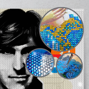 Steve Jobs Rhinestone Painting by Number Kit