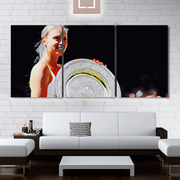 Maria Sharapova - Russia Defeats American Giant II 3 Piece Horizontal Wall Art