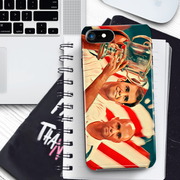Pete Sampras and Andre Agassi - All American Final iPhone Hard Phone Case