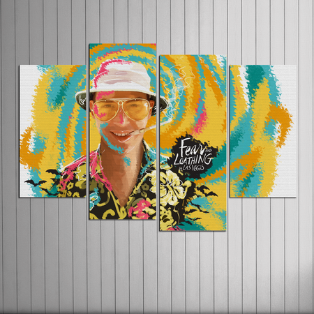 Fear and Loathing 4 Piece Uneven Horizontal Wall Art