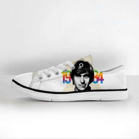 Steve Jobs Canvas Shoes