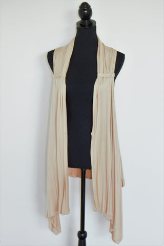 Nude Sleeveless Foxy Mummy Breastfeeding Cardigan
