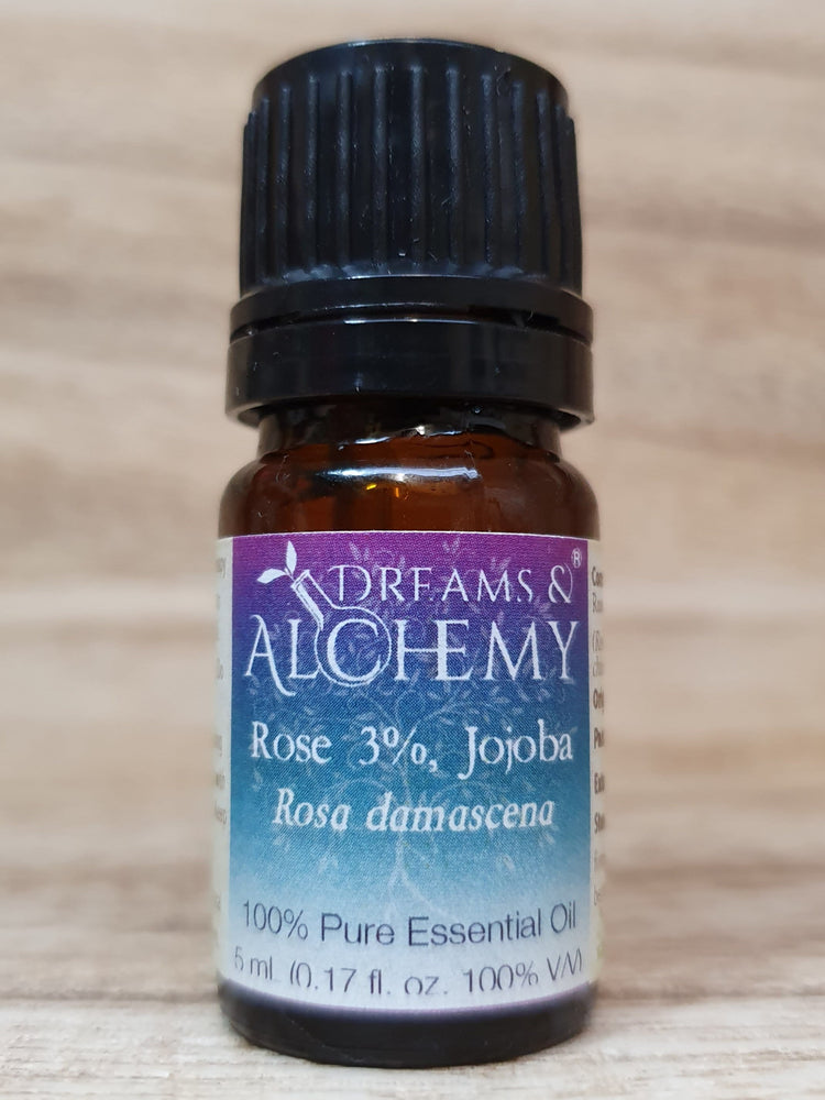 Rose (3% in Jojoba) Essential Oil - Rosa damascena - 100% pure - 5ml & 15ml (OO23a & OO23b)