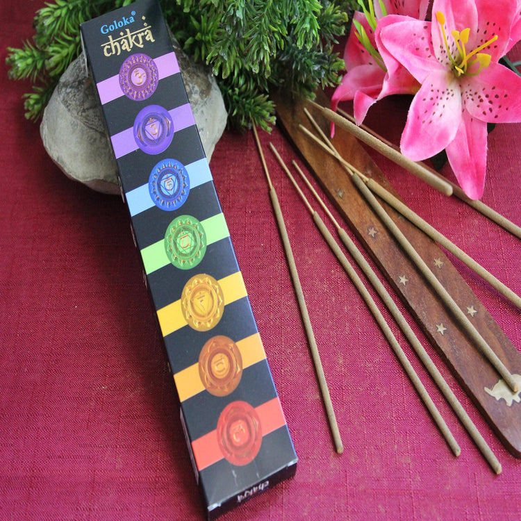 Chakra Incense by Goloka (Inc50)
