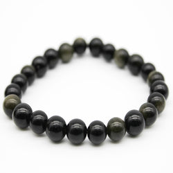 Gold Obsidian Beaded Bracelet - A+ Grade (BGOb2-14 to BGOb2-30)