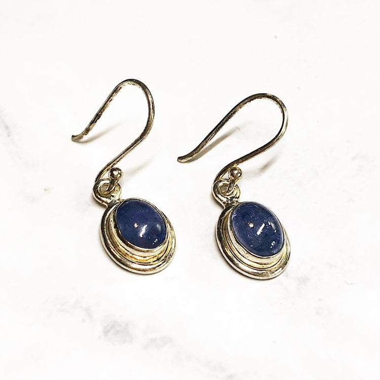Tanzanite Earrings in 925 Sterling Silver (JETanz2)