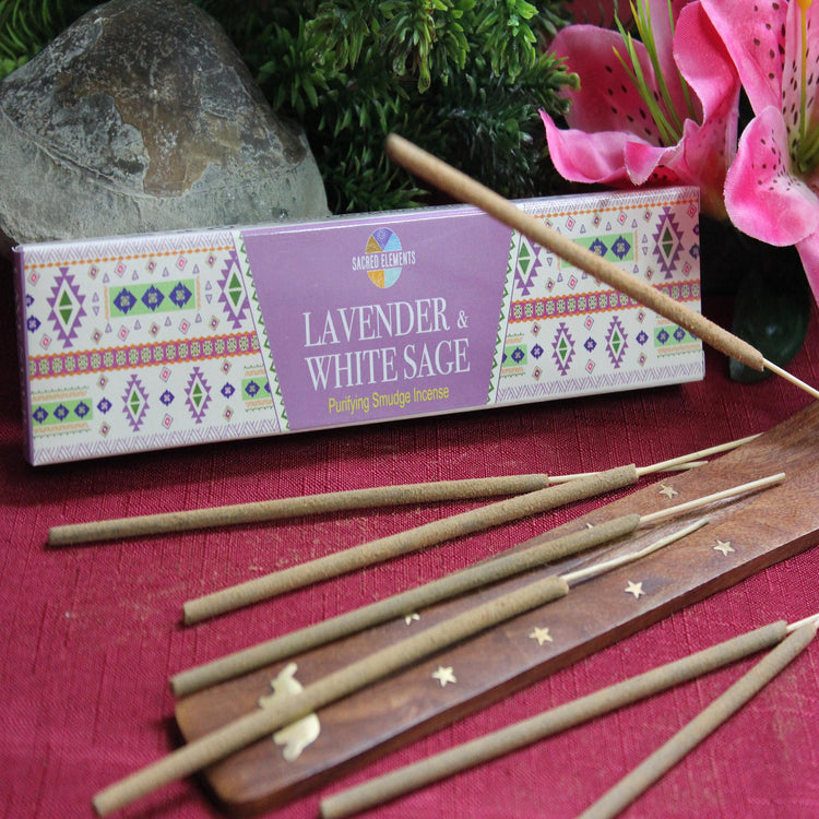 Lavender & White Sage Incense by Sacred Elements (Inc11)