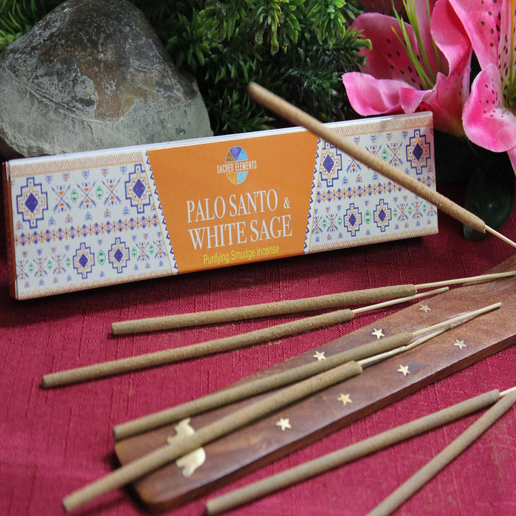 Palo Santo & White Sage Incense by Sacred Elements (Inc10)