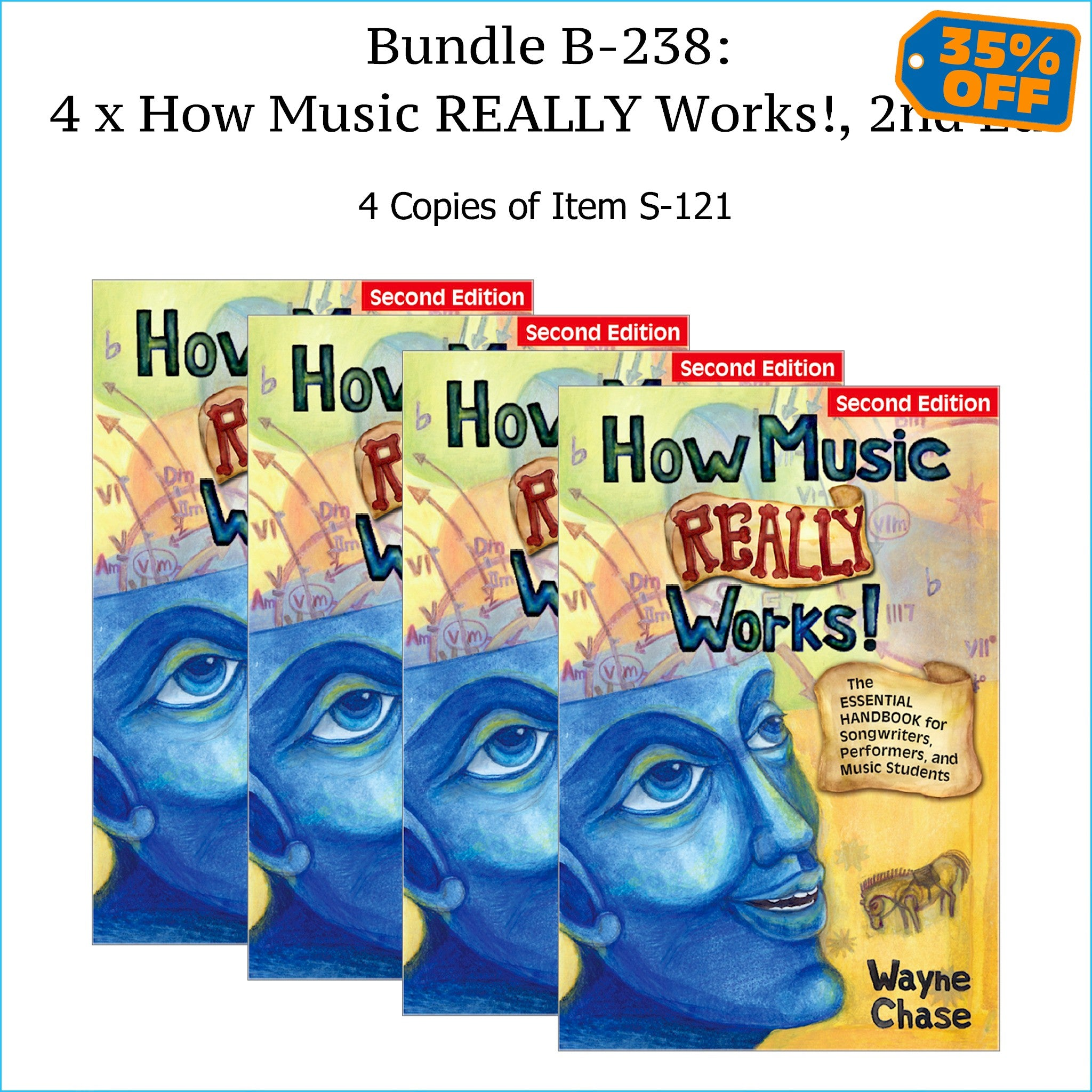 Four copies of How Music Really Works, Second Edition.