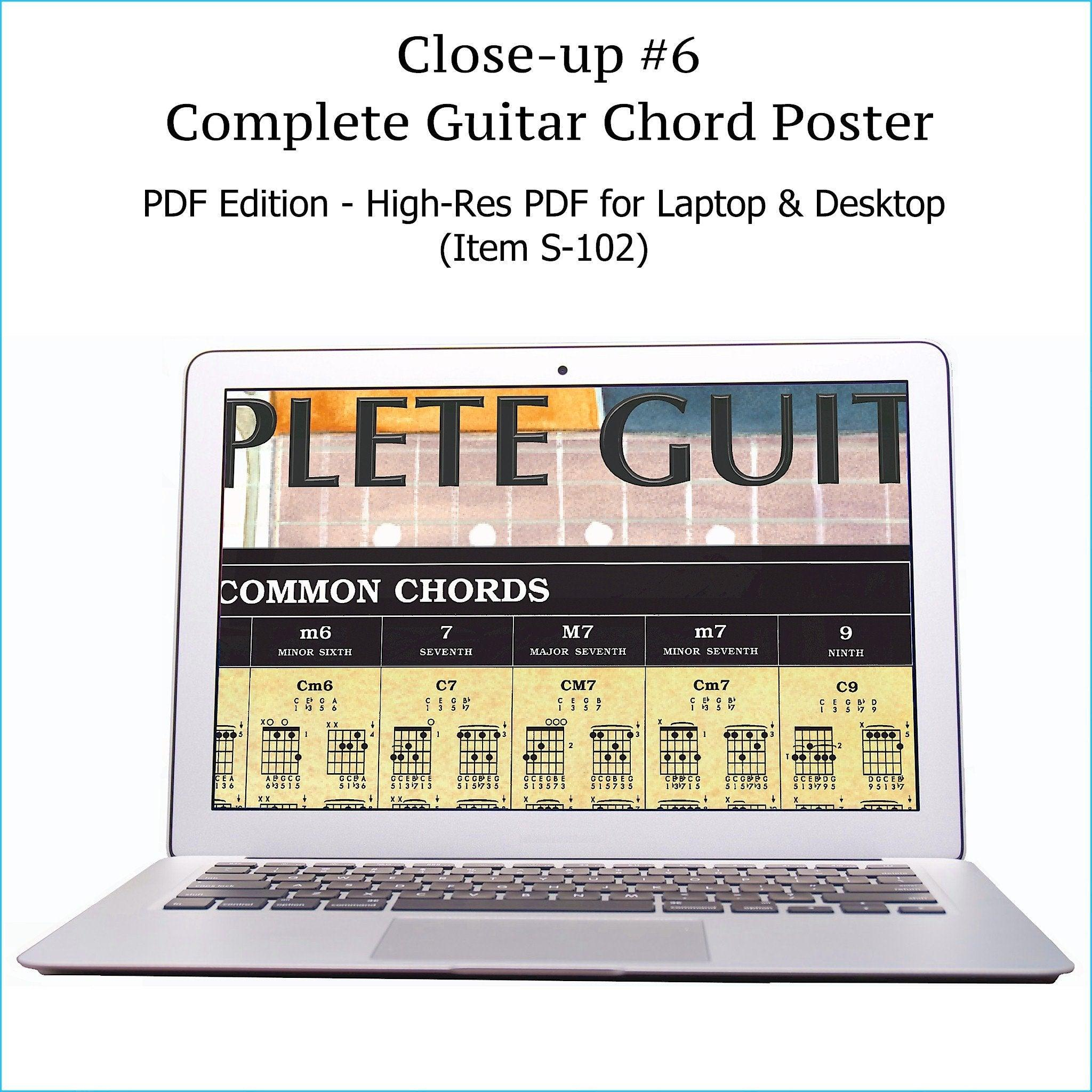 Guitar Chords Pdf Chart Roedy Black Howtoreadguitarchordchartdiagramsjpg Close Up Of Top Section Complete On A Laptop Computer