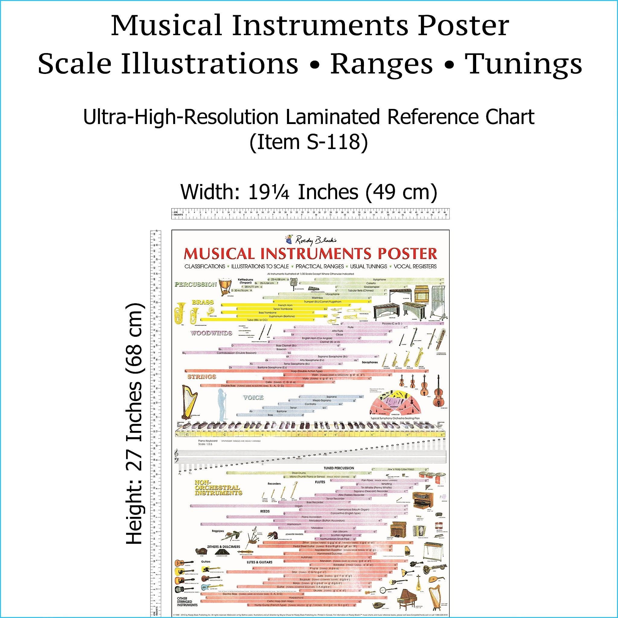 Full view of musical instruments poster.
