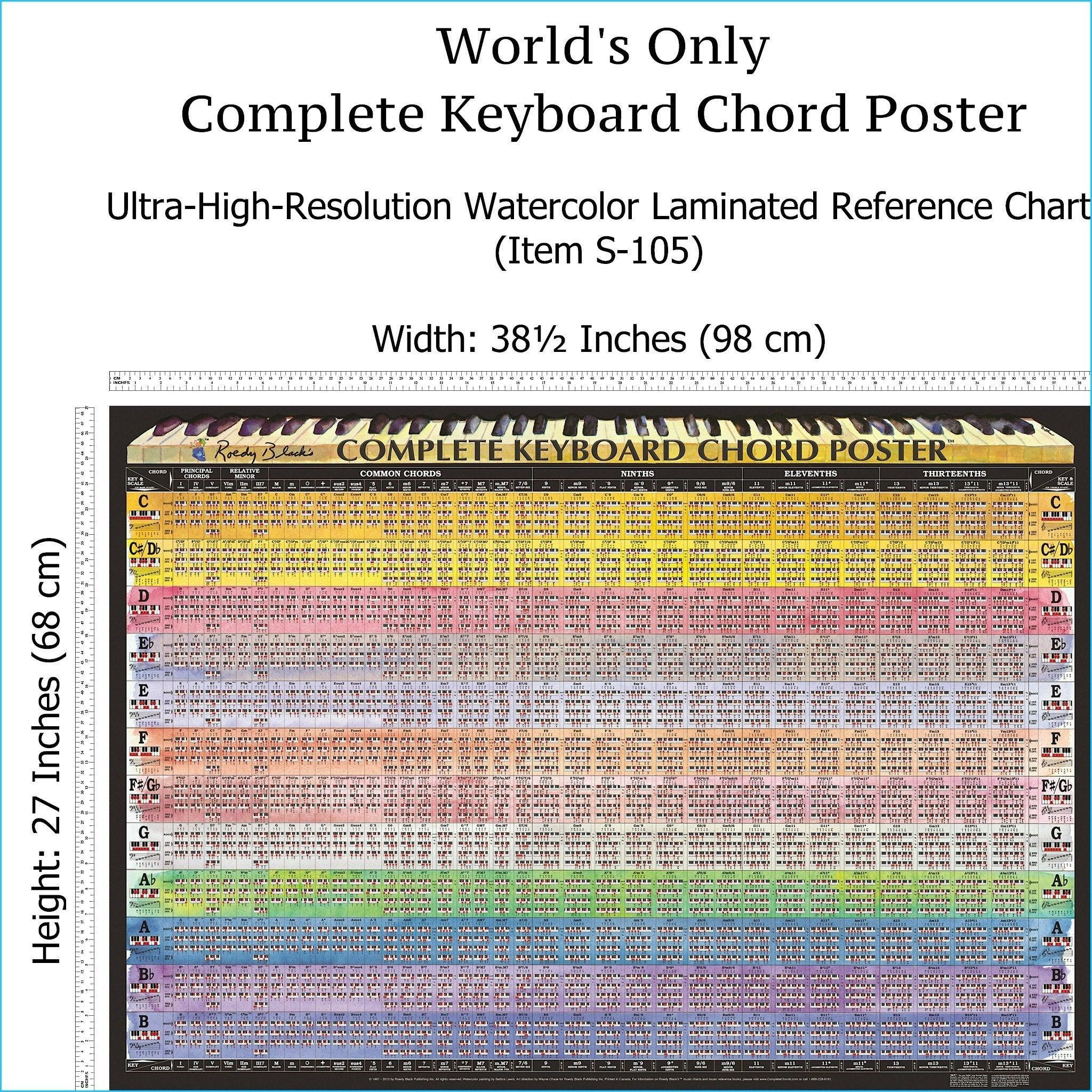photo about Piano Chords Chart Printable referred to as Products S-105: Appreciate Uncomplicated Attain towards Every single Keyboard Chord upon a Solitary Chart! Our LAMINATED \