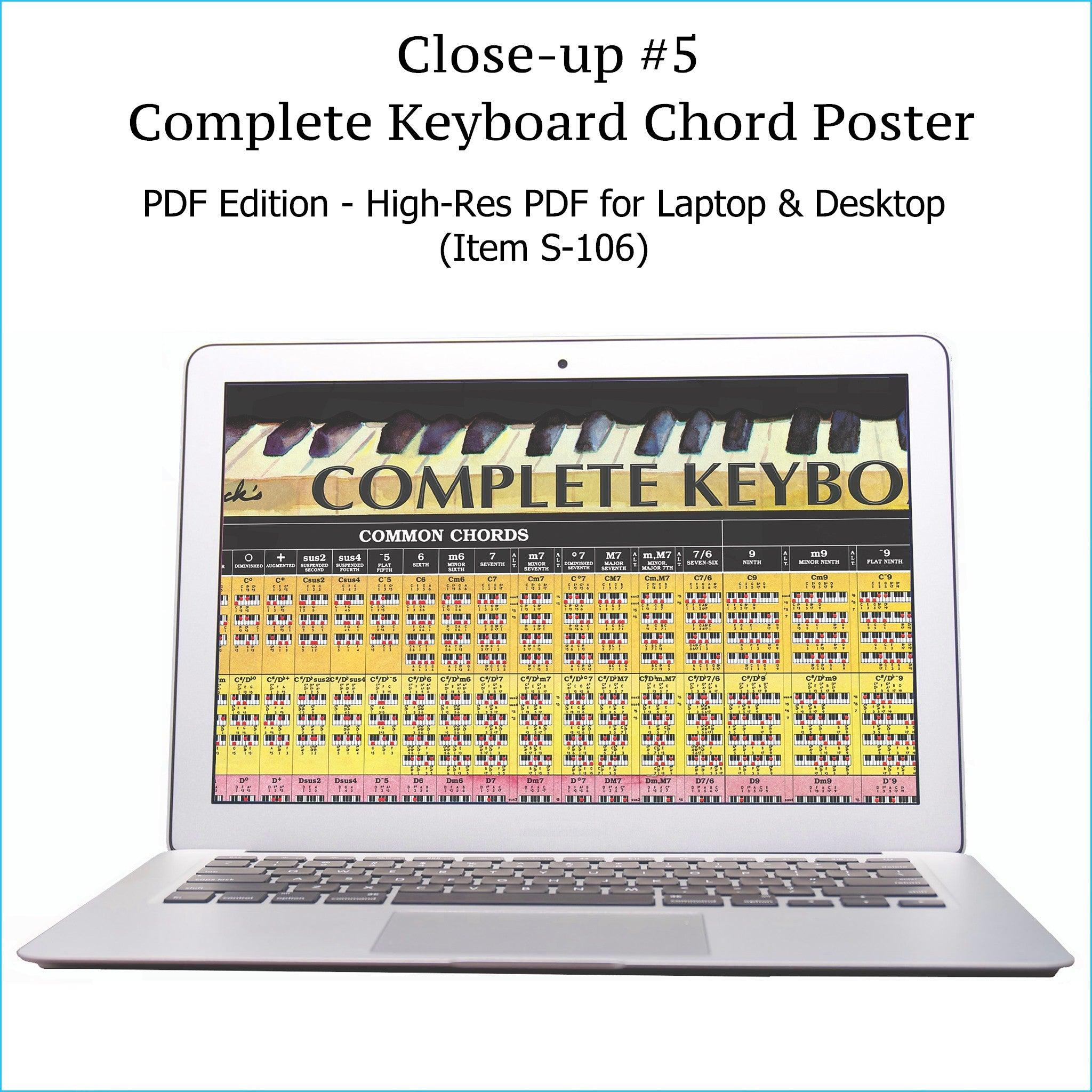 Complete Piano Chord Chart - Laminated Reference Wall Chart – Roedy