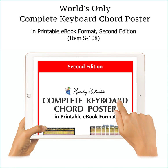 Complete keyboards chords chart in printable ebook format, second edition.