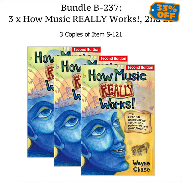 Three copies of How Music Really Works, Second Edition.