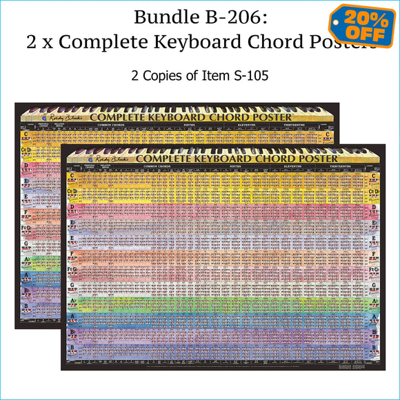 Two complete piano chord charts.