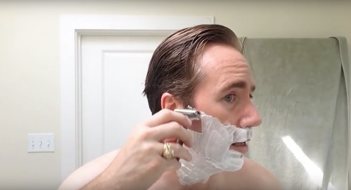 Real life side of wet shaving