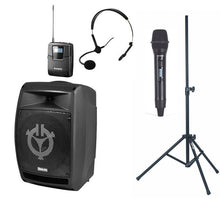 Hire - Battery Portable Speaker with Handheld & Lapel Microphone for Wedding.