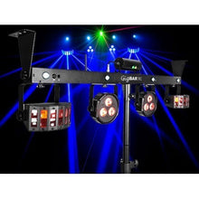 Chauvet GIGBAR2 DJ Gig Bar 4 in 1 light with 2 Derbies, 2 pars a laser and strobe all in one bar.