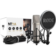 "Rode NT1-A 1"" Cardioid Condenser Microphone Pack for Studio Recording"