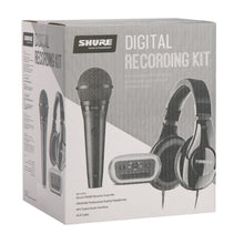 Shure Digital Recording Kit includes PGA58 mic, XLR cable, MVi Interface & SRH240A