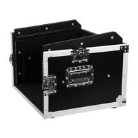 Wooden 19 inch Rack 4U DJ Road Case with Top Mixer Space