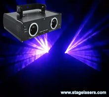 Hire - Twin Blue Laser Light Show