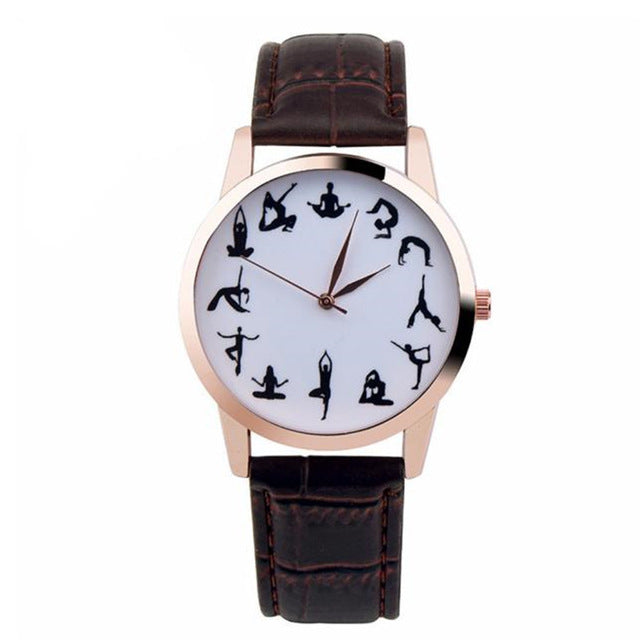 12-Pose Yoga Wrist Watch