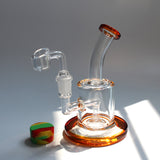 Thick Mini Glass Dab Rig (Multiple Colors)
