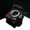 Gariz Brown Leather Camera Half Case XS-CHA7IIBR for Sony Alpha A7II A7RII Mark II