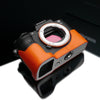 Gariz Orange Leather Camera Half Case XS-CHA7IIOR for Sony Alpha A7II A7RII Mark 2
