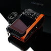 Gariz Orange Leather Camera Half Case XS-CHA7OR for Sony Alpha A7 A7R A7S