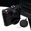 Gariz XS-CHX1MBKR Black Red Leather Half Case for Leica X1 X2