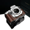 Gariz XS-CHDFBR Brown Leather Camera Half Case for Nikon DF