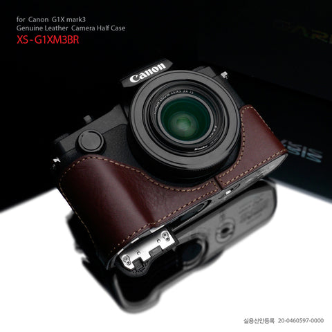 Gariz XS-G1XM3BR Brown Leather Half Case for Canon G1X Mark III
