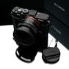 Gariz HG-RX1BK Black Leather Camera Half Case for Sony RX1 RX1R with Hand Grip + Cap Fix