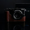 Gariz CHX70BR Brown Genuine Leather Half Case for Fuji Fujifilm X70