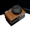 Gariz XS-CHZS110LB Leather Camera Half Case Light Brown for Panasonic Lumix ZS110