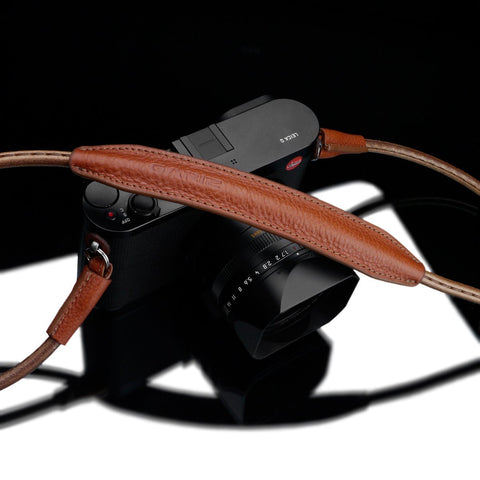 "Gariz XS-CSNMCM Camel 100cm / 39"" Leather Camera Neck & Shoulder Strap for Mirrorless Cameras"
