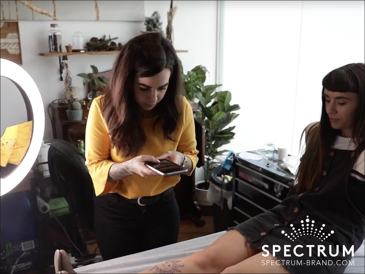 Lighting For Fresh Tattoos How To Take Photos Without Glare Spectrum
